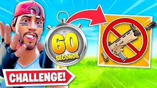 Fortnite BUT every 60 Seconds I DROP a weapon...