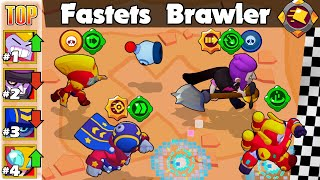 🔥The Fastest Brawler 🔥 Speed Test 🔥 Brawl Stars