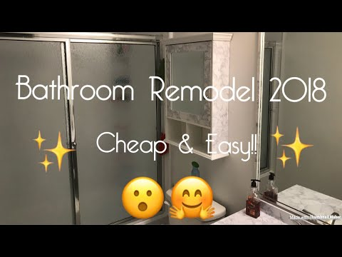 Bathroom Update 2018 Easy& Cheap!