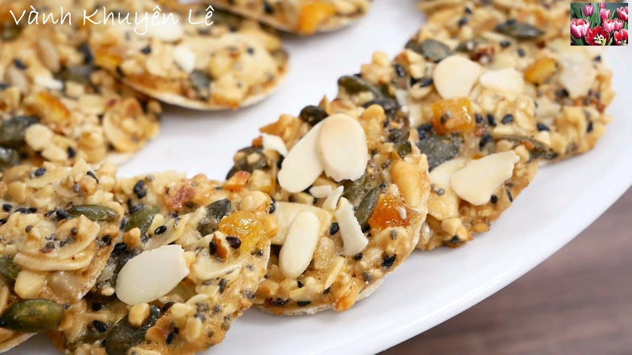 BÁNH HẠNH NHÂN – Món Bánh Hạt Thập Cẩm thay Kẹo Thèo Lèo ngon giòn ngày Tết by Vanh Khuyen