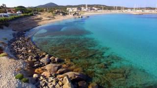 Campeggio spiaggia del riso Villasimius vista dal drone | Ultra HD 4K