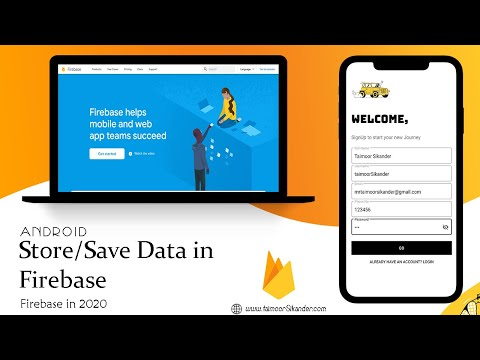 Store Data In Firebase Real Time Database  In Android Studio - Android Firebase # 1 - 2020