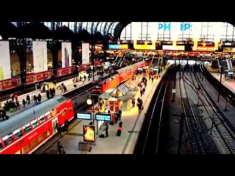 Central Train Station of Hamburg in Germany