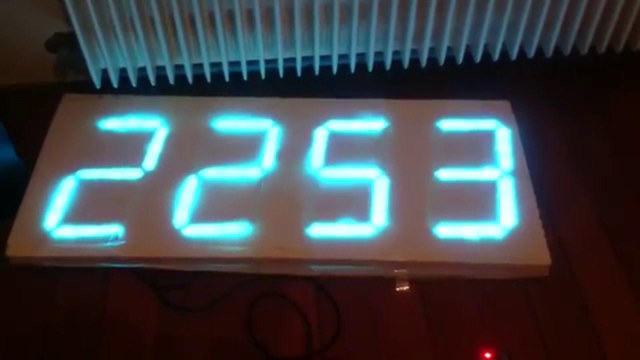 Big clock led segment youtube