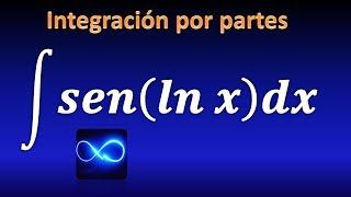 Integral de seno de logaritmo natural, integración por partes