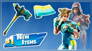 Fortnite NEW Moxie Skin, Clobber Pickaxe, Faded Cool Wrap!