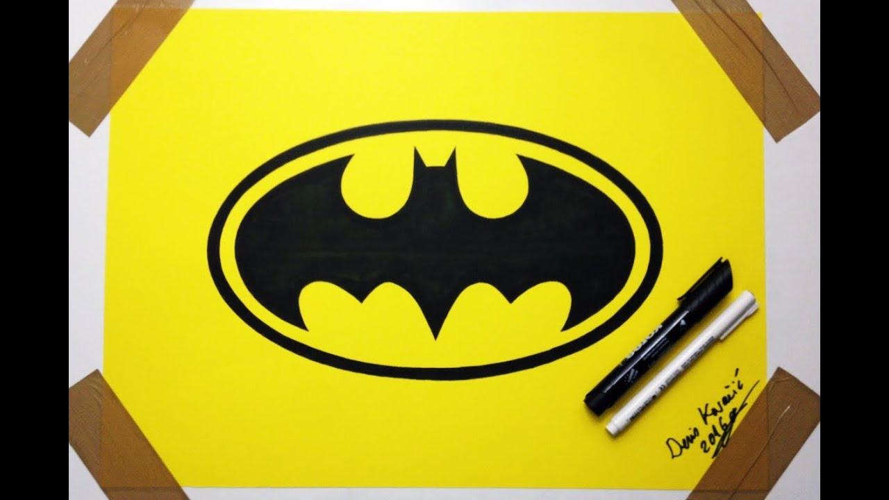 Easy Batman Logo Drawing Spidey Symbol By Saiturtlesninjanx On