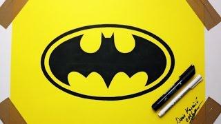 How To Draw Batman Logo  - Fan Art Drawing  By Denis