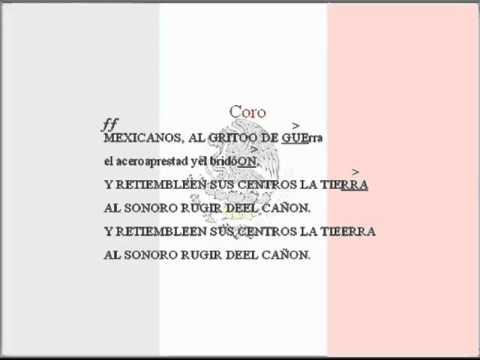 Himno Nacional Mexicano (Pista y letra).wmv