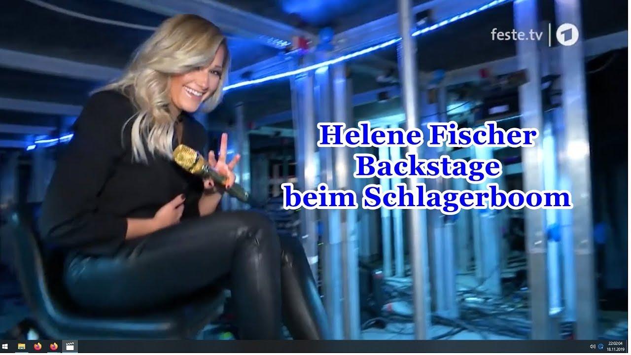 Helene Fischer Backstage beim Schlagerboom - YouTube