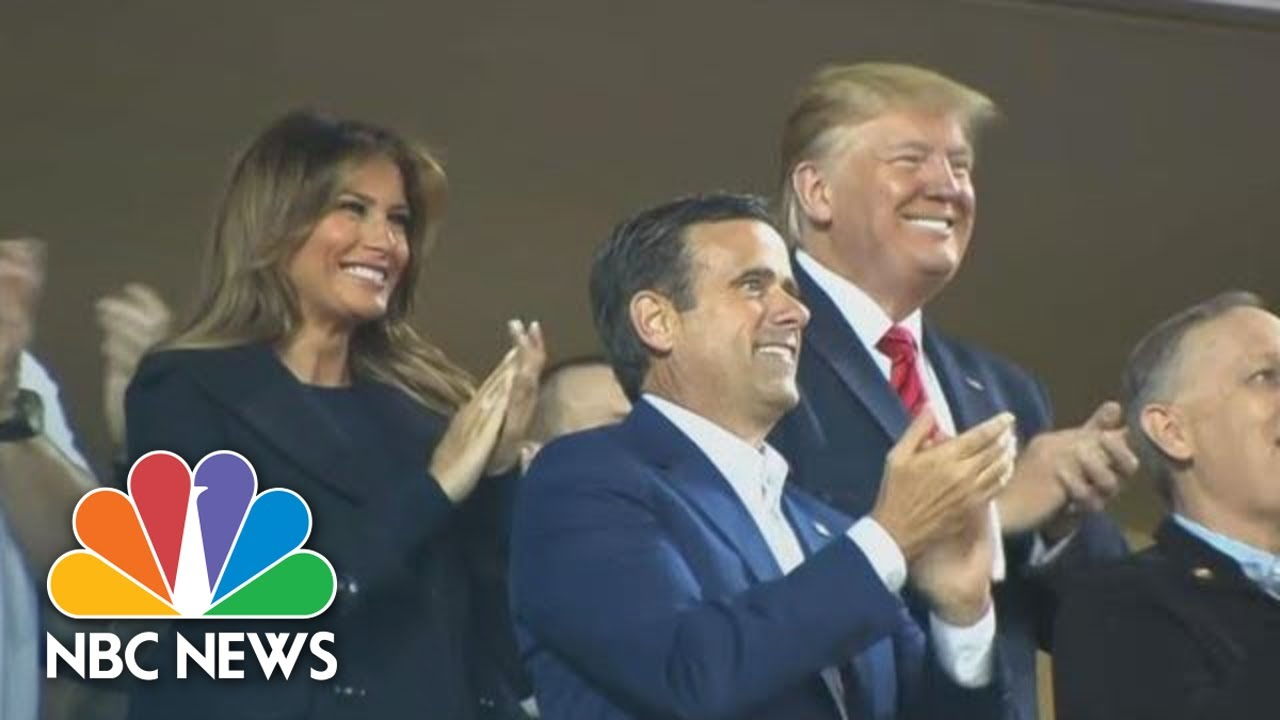 President Donald Trump Greeted With Loud Boos After Being Introduced At World Series | NBC News