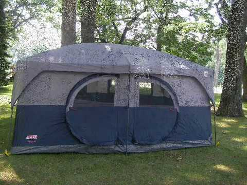 COLEMAN 14X10 CABIN/HAMPTON TENT (Like Wal-Mart MAX tent) & COLEMAN 14X10 CABIN/HAMPTON TENT (Like Wal-Mart MAX tent) - YouTube
