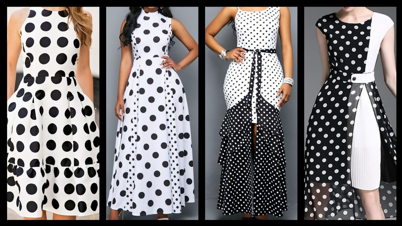 outstanding most classy polka dot middi dresses collection in black and  white - YouTube