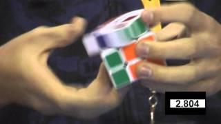 Feliks Zemdegs Rubik's cube (former) world record 5.66 - slow motion