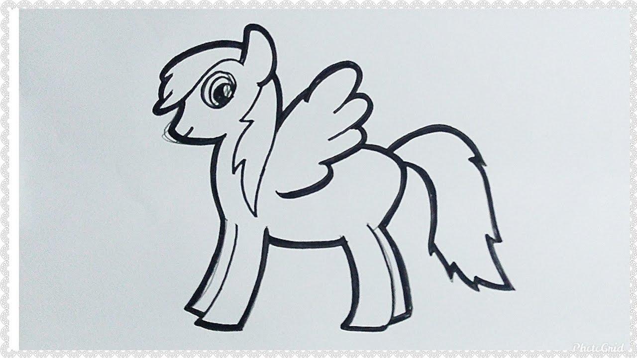 Cara Mudah Menggambar Dan Mewarnai Kuda Poni Atau My Little Pony Tutorial Indonesia Youtube