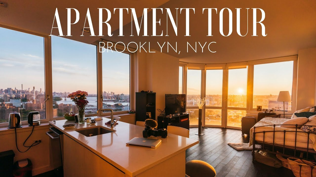 OUR BROOKLYN APARTMENT TOUR 2017 - BEST VIEW ON NEW YORK ...