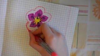 Учимся рисовать красивый цветок(В этом видео учимся рисовать красивый цветок., 2016-03-15T17:57:15.000Z)