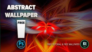 Abstract Fibers Effect #1 - Wallpaper Background in Adobe Photoshop CC 2019