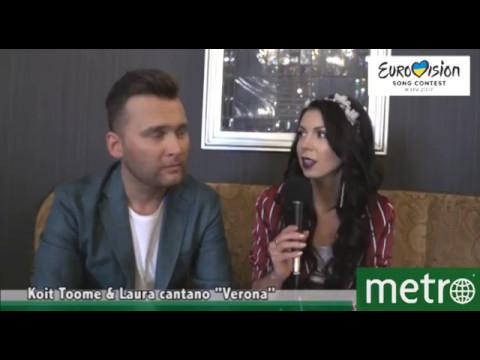"""Koit Toome e Laura cantano """"Verona"""" - Interview (ENG)"""