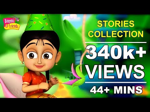 ✿ 44+ Mins Bommi & Friends Stories Collection For Kids ✿ Chutti TV | Tamil Moral Stories Collection