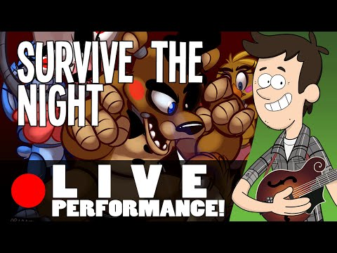 SURVIVE THE NIGHT - Live Performance By MandoPony | Five Nights At Freddy's 2