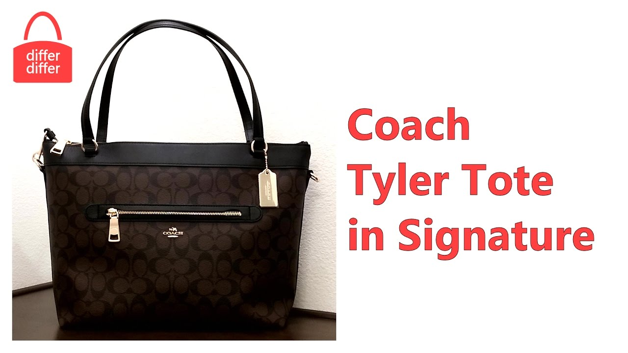 b1b44a9d1 Coach Tyler Tote In Signature 58286 - YouTube