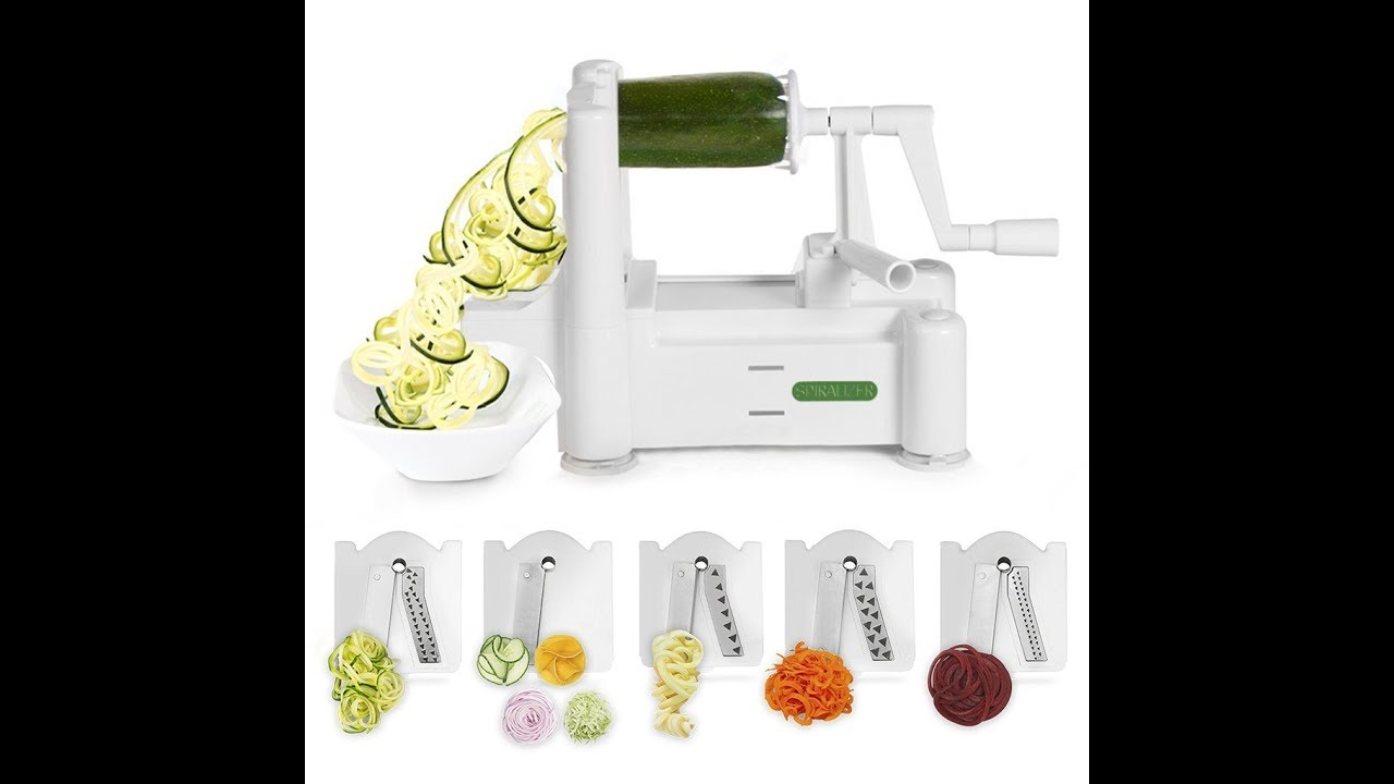 Review: Spiralizer 5-Blade Vegetable Slicer, Strongest-and-Heaviest ...