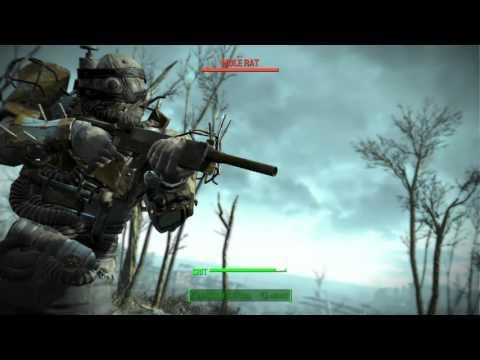 Fallout 4 VATS System & Head Shot Gameplay