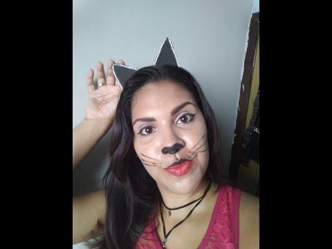DIY Carnaval Tiara de gatinha