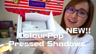 新款!!!!! Colourpop單色眼影試色+心得 NEW!! Pressed Powder Shadows Swatches+Review|TinyTinna