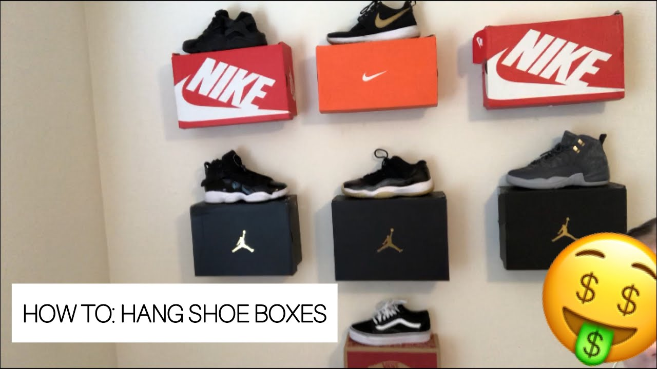How To Hang Shoe Boxes👟🤤 Youtube