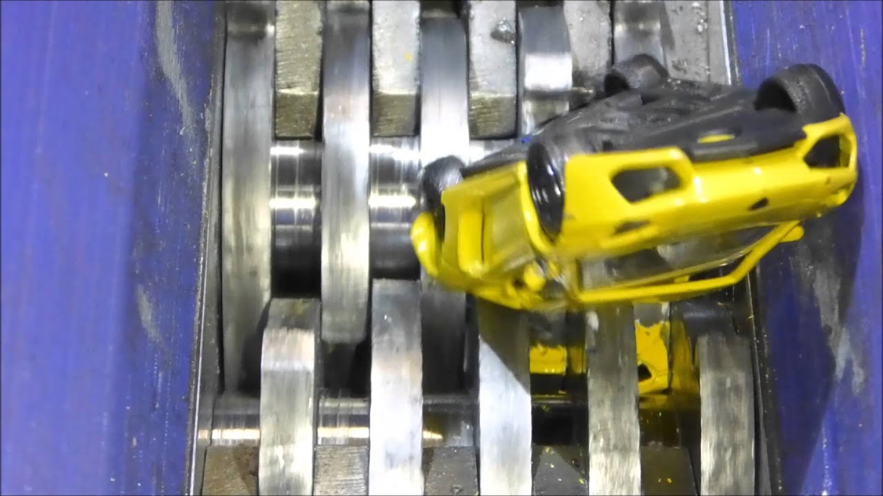 Shredding Metal Toy Cars.