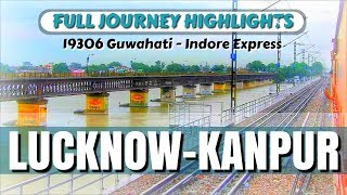 LUCKNOW To KANPUR || Flooded GANGES & Heavy Rains || Full Journey Highlights