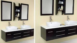 Fresca Bellezza Espresso Modern Bathroom Vanity W/ Solid Oak Wood & Ceramic Sinks - Fvn6119es