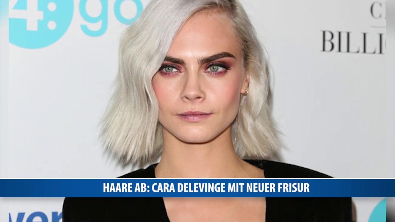 Haare Ab Cara Delevingne Mit Neuer Frisur Youtube