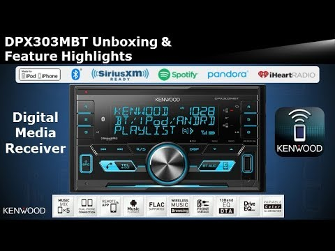 2018 KENWOOD DPX303MBT Digital Media Receiver with Bluetooth Unboxing & Feature Highlights