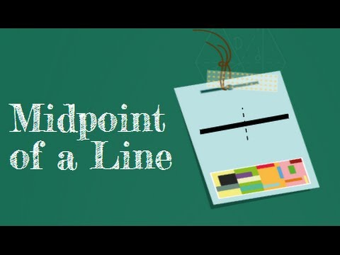 how to get the midpoint of a line