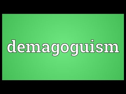 Header of demagoguism