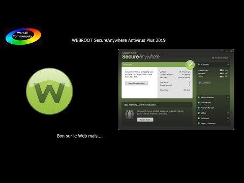 WEBROOT SecureAnywhere Antivirus Plus 2019 | Bon sur le Web mais...