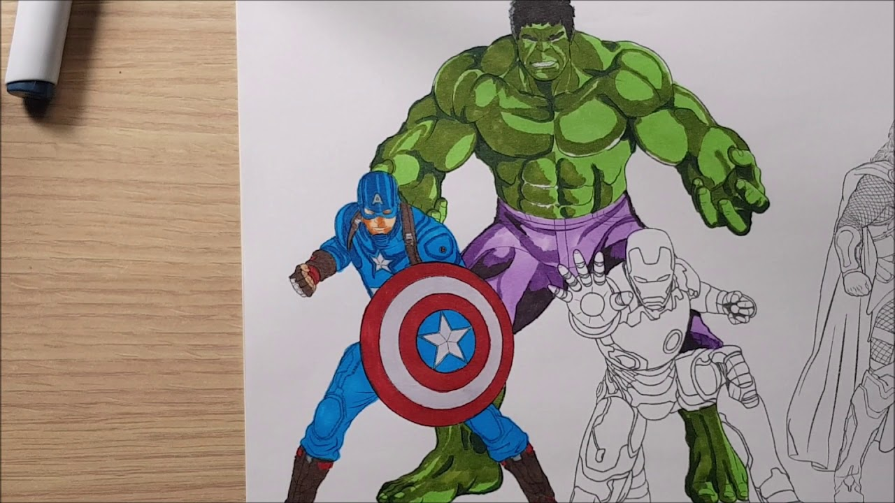 King Art Colorare Super Eroi Da Colorare Personaggi Marvel Piu