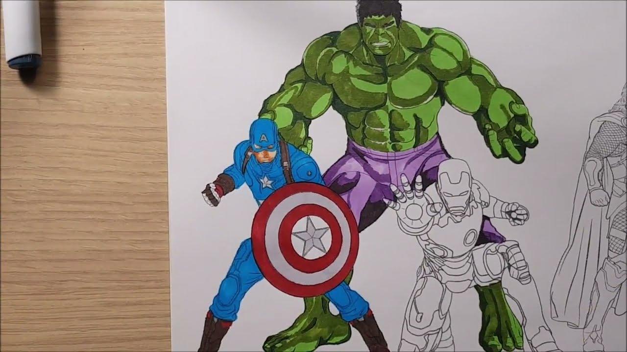 I Disegni Degli Avengers Da Stampare E Colorare