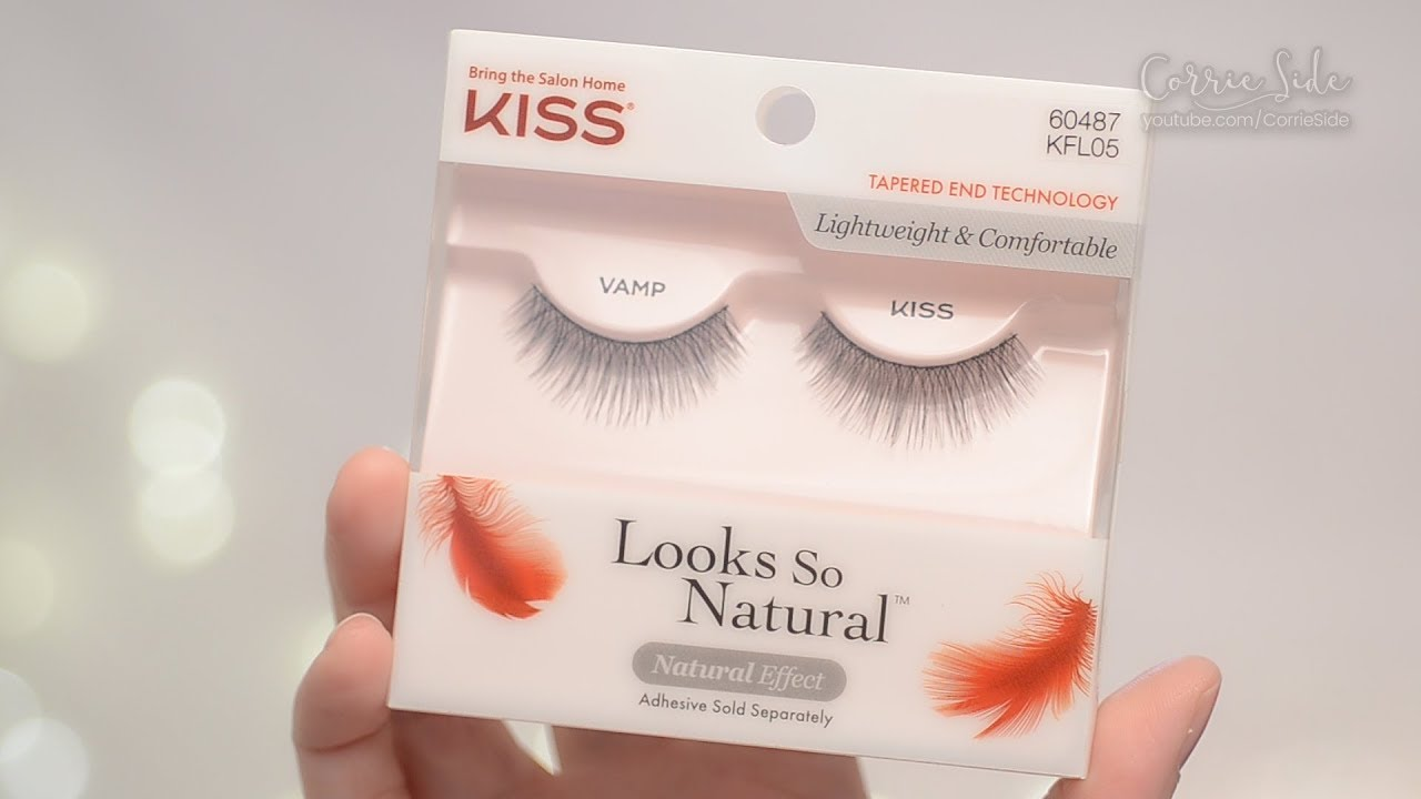7cc52bb1de3 Kiss Looks So Natural VAMP Lashes Try On & Review | CORRIE SIDE ...