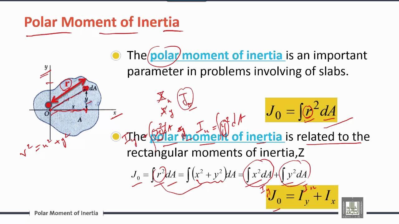 Engineering Mechanics   C7-L3   Polar Moment of Inertia , Product of Inertia