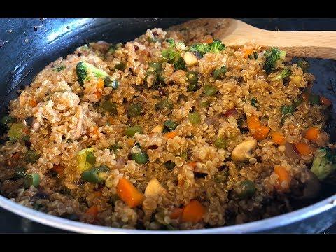 Quinoa Stir Fry (Fried Rice) Recipe | Healthy Vegetarian Recipe