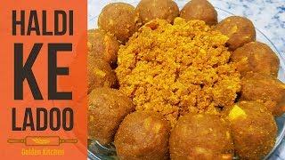 Haldi Ke Ladoo | Haldi Ki Pinnni | New Recipe | Raw Turmaric Ladoo | Golden Kitchen