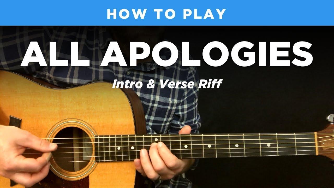 🎸 All Apologies • Intro & verse riff w/ tab Nirvana guitar lesson,  standard tuning
