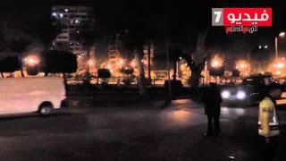 لحظة خروج مرسى من قصر القبة تحت حراسة مشددة
