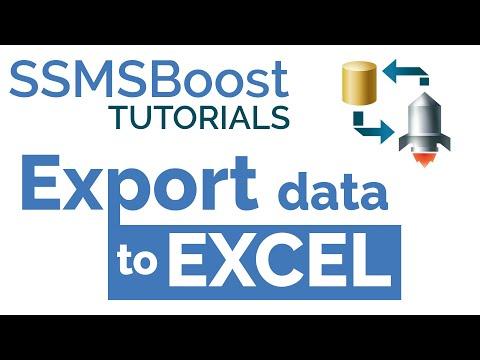 SSMSBoost Tip #3: Export Data to Excel from SSMS Results Grid (SQL Server Management Studio)