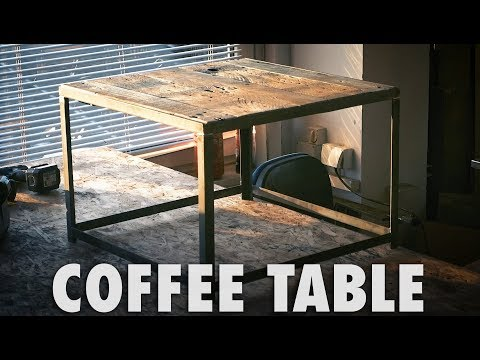 Coffee Table from Steel and Pallet