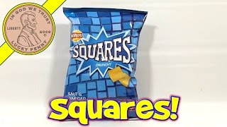 Walkers Squares Crunchy Salt & Vinegar Potato Snack - UK Snack Tasting Series